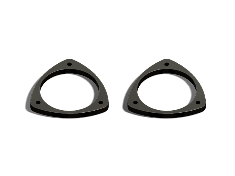 "SAAB 92X (2004-06) - Front ""Nose Dive"" Spacers (HDPE)"
