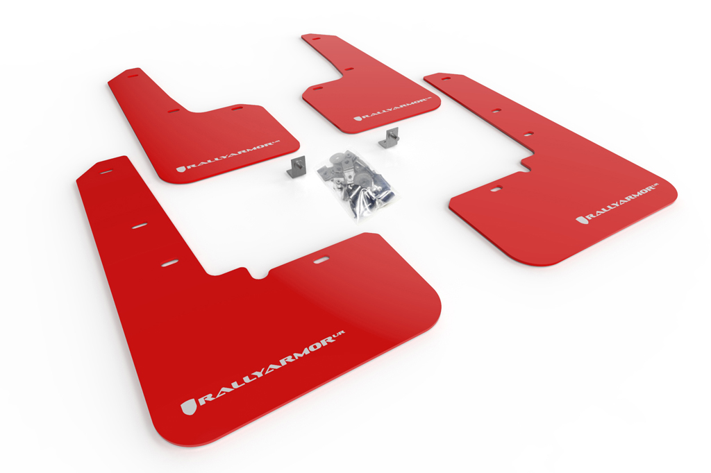 (20-XX) Outback - Rally Armor - UR Mudflaps (Red/White)